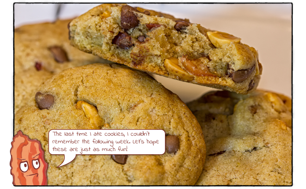 Bacon Cookies with Peanuts and Chocolate