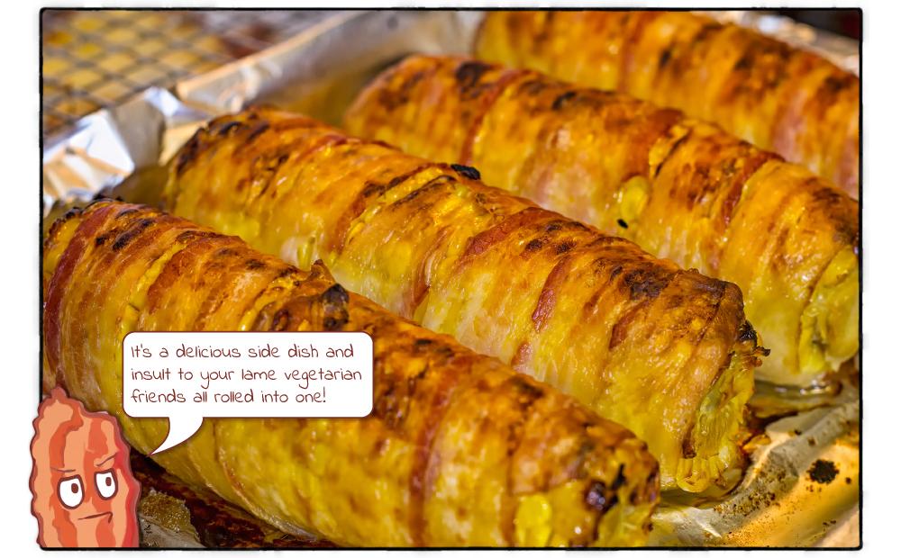 Bacon-wrapped Corn on the Cob | Captain Bacon
