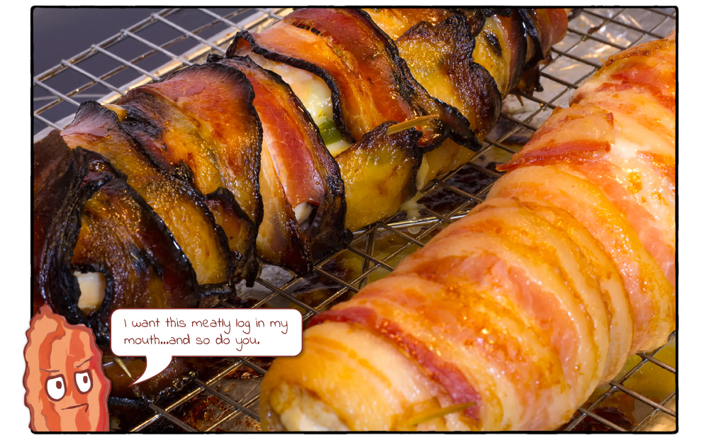 Turkey Cheddar Jalapeno Bacon Roulade