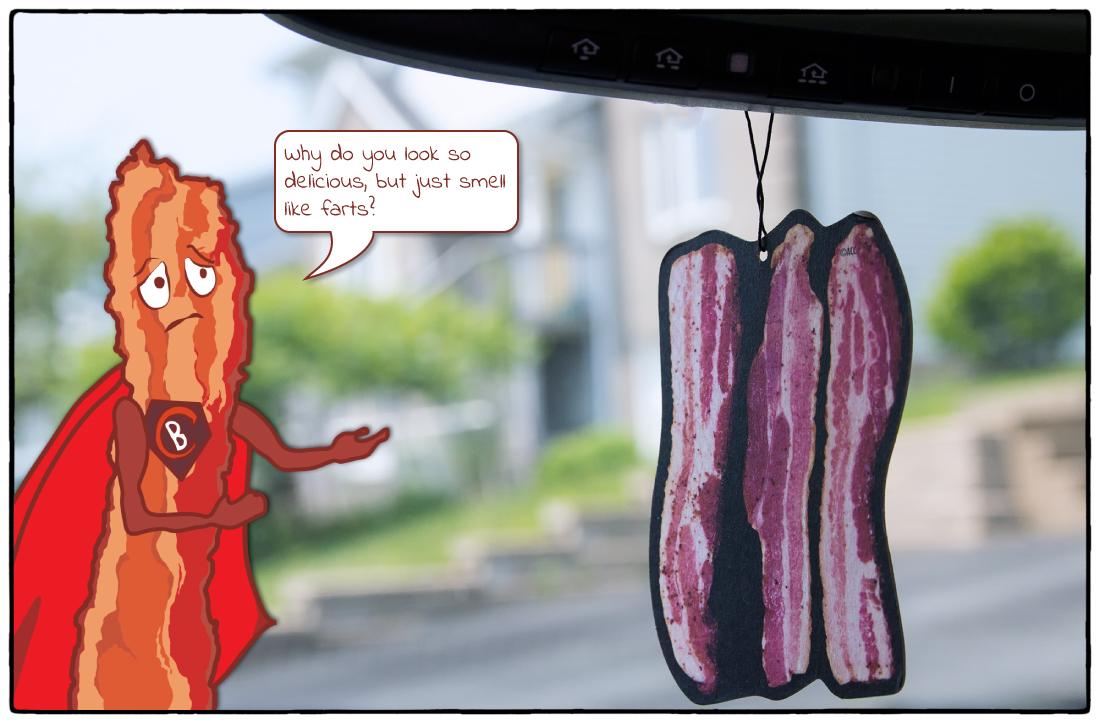 The Bacon Air Freshener